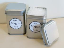 Blikje met 100 gram Witte/Bruine Kandijklontjes