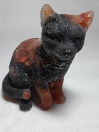 Kat gevuld met Onyx en Carneool