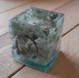 Universeel potje, groen Avanturijn en bergkristal