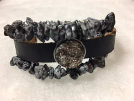 Sneeuwvlok obsidiaan set