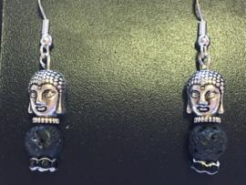 Lava oorbel Boeddha 002