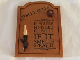Houten Toilet bordje 2