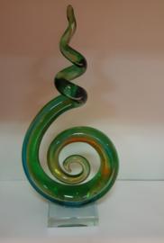 Glas sculptuur Curl 31 x 16 CM