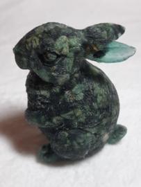 Urn konijn rechtop met Eldariet 8 x 7 x 5cm