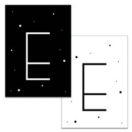 Mini kaartje: Letter E
