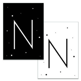 Mini kaartje: Letter N
