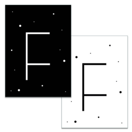 Mini kaartje: Letter F