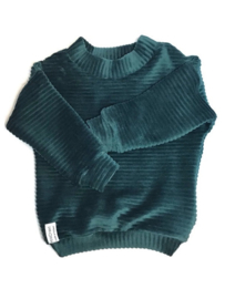Velvet sweater Petrol- Green