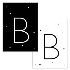 Mini kaartje: Letter B