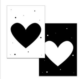 Minikaartje Hart
