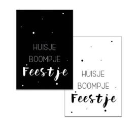 Minikaartje Huisje,boompje,  feestje