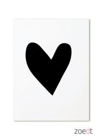 Kaart Zwart hartje