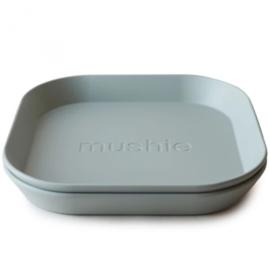 Mushie Set van 2 bordjes Sage