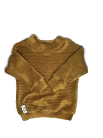Velvet sweater Beige- Gold