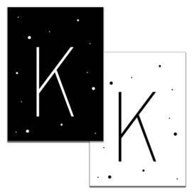 Mini kaartje: Letter K