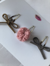 Klik-klak speldjes 3 cm mini  oudroze
