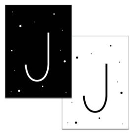 Mini kaartje: Letter J