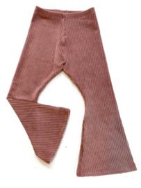 Zoofs | Flared pants | Rib Pink Clay