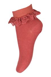 Flippa sokken met kant | Marsala | MP Denmark| Maat 17 t/m 32