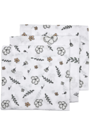 Hydrofiele luiers | 3 Pack | Floral | Camel | Meyco Baby