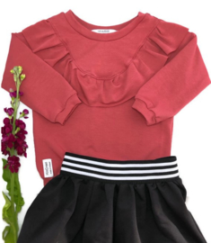 Ruffle Sweater Marsala