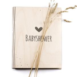 Babyshower boek met invulkaarten