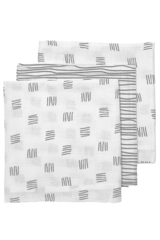 Hydrofiele luiers   3 Pack  Block   Stripe   Meyco Baby