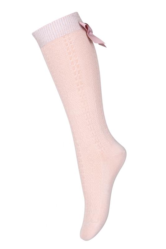 Sofia kniekous met strik | Dusty Pink | MP Denmark| Maat 22 t/m 32