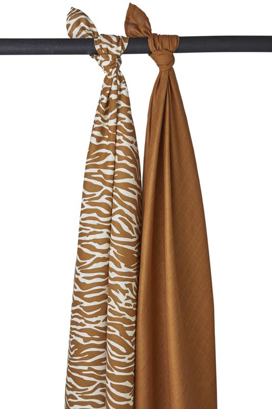 Swaddle   2 Pack   Zebra   Camel   Meyco Baby