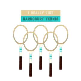 Dames tennis t-shirt - I really like hardcourt tennis
