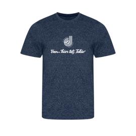 """Heren shirt """"Van hier tot Tokio/Parijs"""" Donna Jansen"""