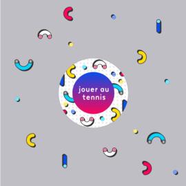 Tennis joggingpak dames - Confetti