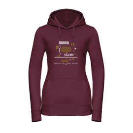 Dames tennis hoodie - Melbourne - Paris - London - New York