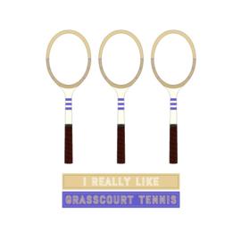 Dames tennis t-shirt - I really like grasscourt tennis
