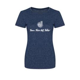 """Dames shirt """"Van hier tot Tokio/Parijs"""" Donna Jansen"""