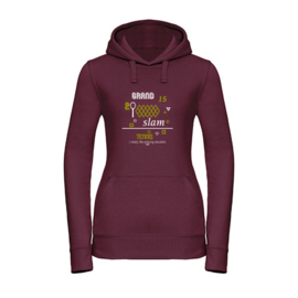Dames tennis hoodie - I really like playing doubles