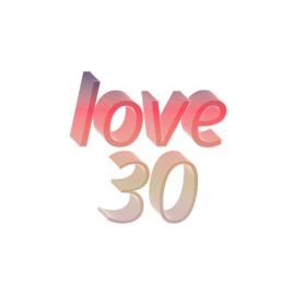 Tennis t-shirt dames - love 30