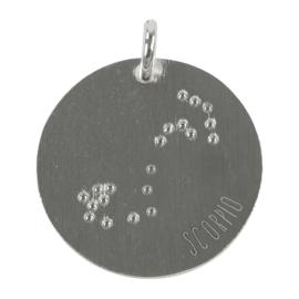 Schorpioen zodiac sky - zilver