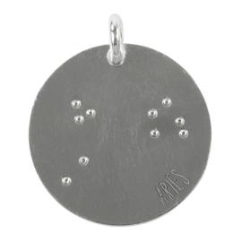 Ram zodiac sky - zilver