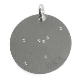 Kreeft zodiac sky - zilver
