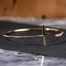 Armbandje bar goud