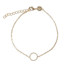 Armband met cirkeltje goud