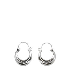 Clean oorbellen zilver