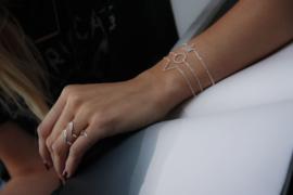 V armband - goud