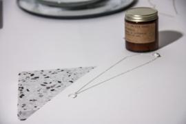 Crescent moon ketting - zilver