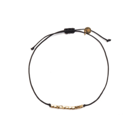 Friendship rope armbandje - zwart