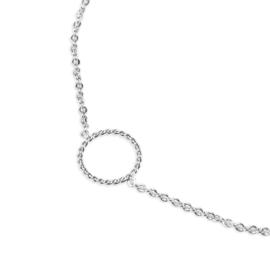 Armband met cirkeltje zilver