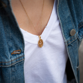 Snake pendant ketting goud