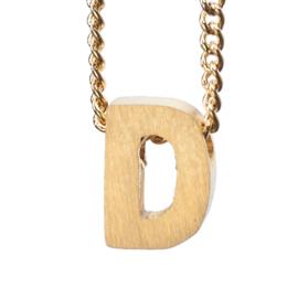 Bedel letter D - goud