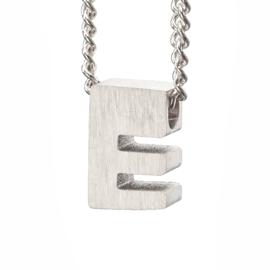Bedel letter E - zilver